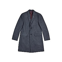 Burton - Charcoal grey tailored fit chesterfield coat