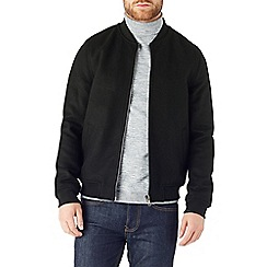 Burton - Black wool bomber jacket