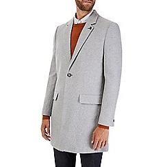 Burton - Light grey wool chesterfield coat