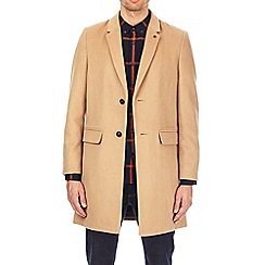 Burton - Camel single breasted chesterfield coat