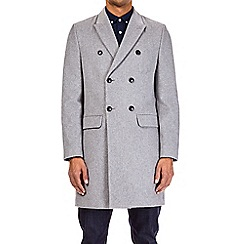 Burton - Grey double breasted chesterfield coat