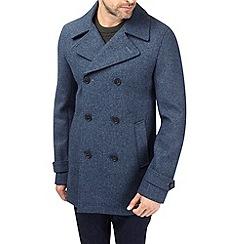 Burton - Blue marl wool peacoat