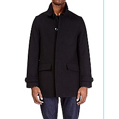 Burton - Black smart single breasted 2 button wool coat