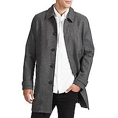 Burton - Grey textured wool coat