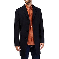 Burton - Navy wool chesterfield coat