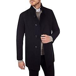 Burton - Black smart wool blend overcoat