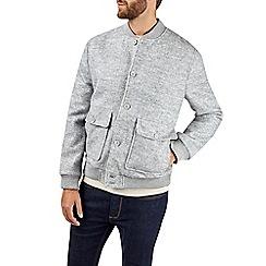 Burton - Grey boucle bomber jacket