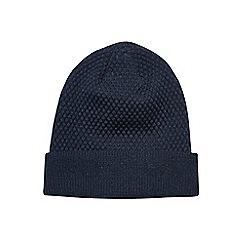Burton - Navy basic textured beanie hat