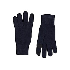 Burton - Navy basic knit gloves