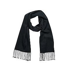 Burton - Black woven plain scarf