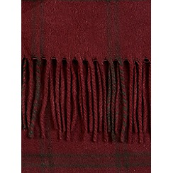 Burton - Burgundy woven checked scarf