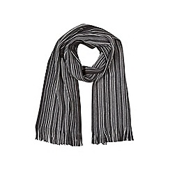 Burton - Black knitted stripe scarf