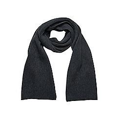 Burton - Charcoal core knitted scarf