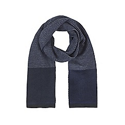 Burton - Navy formal knitted scarf