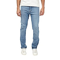 Burton - Blue slim fit light wash jeans