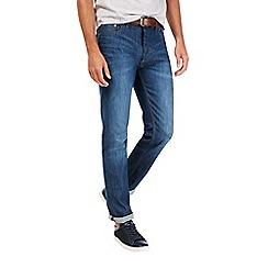 Burton - Greencast mid wash belted slim jeans