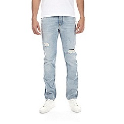 Burton - Bleach rip and repair slim fit jeans