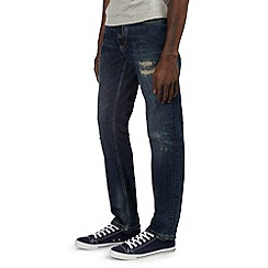 Burton - Mid wash rip & repair jeans