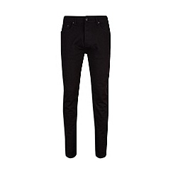 Burton - Big and tall black tapered jeans