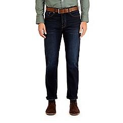 Burton - Indigo wash belted bootcut fit jeans