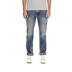 Burton - Blue dirty tint bootcut fit jeans