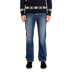 Burton - Mid blue bootcut fit jeans