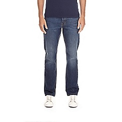 Burton - Dark blue wash bootcut fit jeans