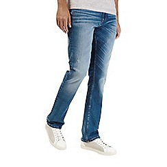Burton - Bright blue bootcut denim jeans