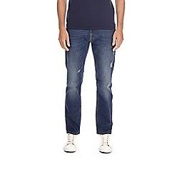 Burton - Indigo wash slim fit ripped jeans