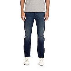 Burton - Dark blue coated green cast slim fit jeans