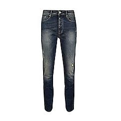 Burton - Yellow cast indigo slim fit jeans