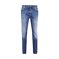 Burton - Big and tall mid blue slim jeans