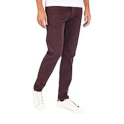 Burton - Dark plum 5 pocket skinny fit jeans