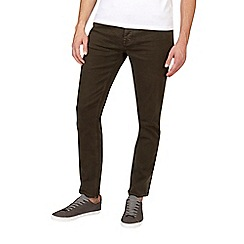Burton - Green slim fit five pocket jeans