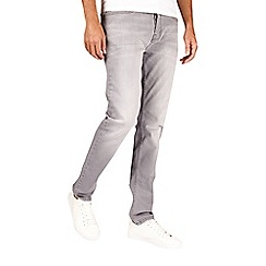 Burton - Light grey wash stretch tapered fit jeans