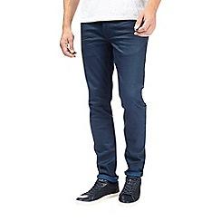 Burton - Dark blue skinny fit coated premium jeans
