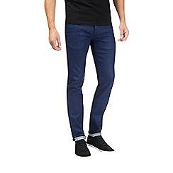 Burton - Royal blue coated skinny fit jeans