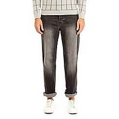 Burton - Grey wash belted relaxed fit jeans