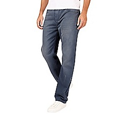 Burton - Blue and grey relaxed fit jeans
