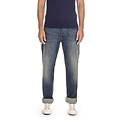 Burton - Dark blue green cast relaxed fit jeans