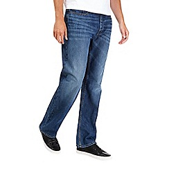 Burton - Mid blue coated relaxed jeans*
