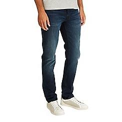Burton - Blue/black stretch skinny fit jeans