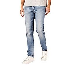 Burton - Light blue wash skinny fit distressed jeans