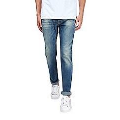 Burton - Blue skinny fit dirty tint jeans