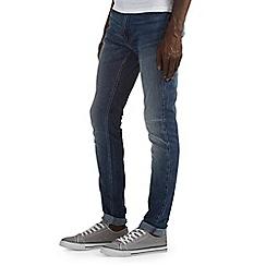 Burton - Mid blue vintage stretch skinny jeans