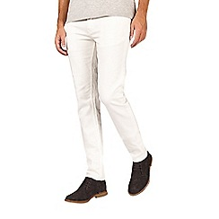 Burton - White skinny fit 5 pocket jeans