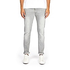 Burton - Clean light grey rip super skinny jeans