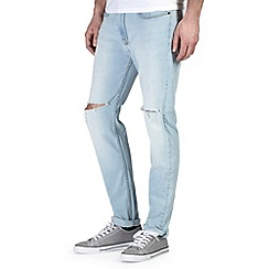Burton - Bleach wash rip knee stretch skinny jeans*