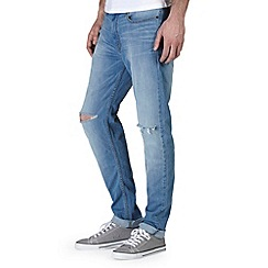 Burton - Light wash rip knee stretch skinny jeans*