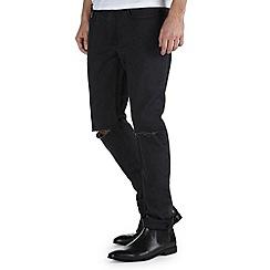 Burton - Washed black rip knee skinny jeans*